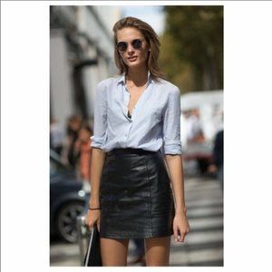 Maxima Wilson's Leather Black Leather Skirt Size 8